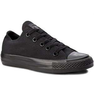 Converse Black Monochrome Low Top Sneakers Size 11